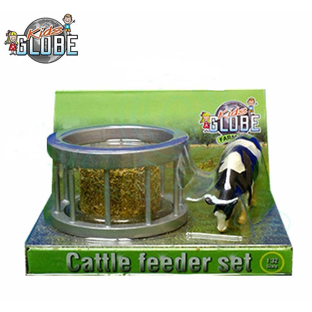 KidsGlobe  (Kids Globe) Kids Globe Bale Feeder Ring & Cow 1:32  571961