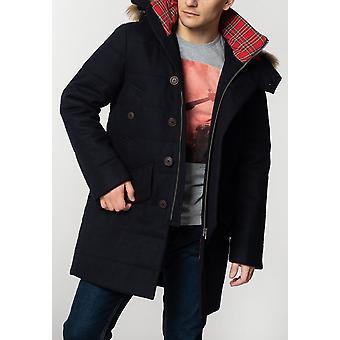 Merc RALEIGH, Men's Padded Wool Parka with Fur Hood