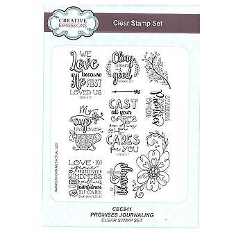 Expressions créatives A5 Clear Stamp Set - CEC841 Jffs2 - promesses