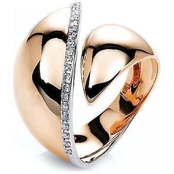 Diamantring Ring - 18K 750 Rotgold - Weissgold - 0.16 ct.
