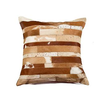"""18"""" x 18"""" x 5"""" Brown And Natural - Pillow"""