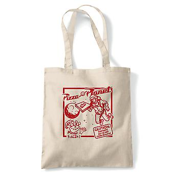 Pizza Planet Film Ispirato, Tote - Riutilizzabile Shopping Borsa Regalo