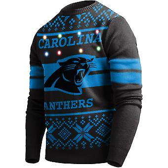 LED Light Up XMAS Knit Sweater - Carolina Panthers