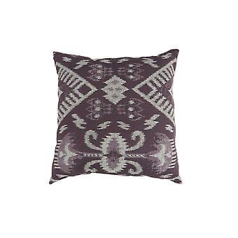 Contemporary Style Set of 2 Throw Pillows, Purple, White