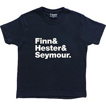 Affollata House Line-Up Navy Blue Kids' T-Shirt