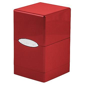 Ultra Pro 84844 Satin Tower-HI-Gloss Fire red Deck Box