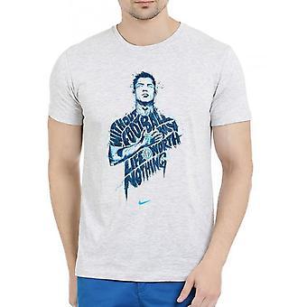 Nothing without football half sleeves melange t-shirt