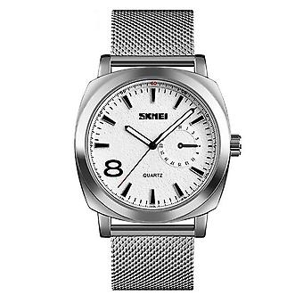 Skmei Mens Watch Stunning Analogue Watches Silver Stainless Steel Date SK1466