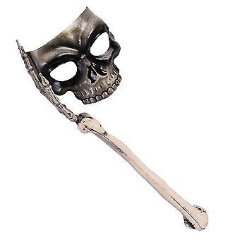 Bristol Novelty Skull Mask With Bone Handle