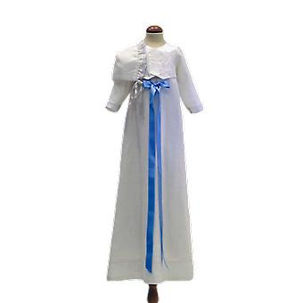Christening Dress With West, Dophätta And Light Blue Bow Grace Of Sweden
