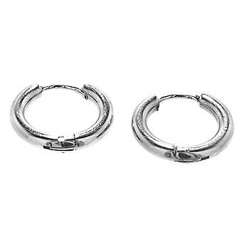 Folding creole silver 12mm - stainless steel