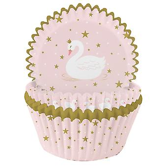 Swan Cupcake Cases Wrappers - Cake Decoration Pack of 75
