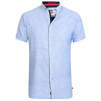 DUKE Duke Linen Blend Short Sleeve Shirt