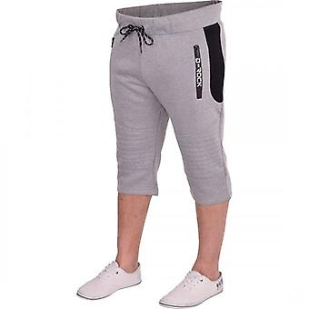 D Rock Mens D Rock Long Cargo Combat Fleece 3/4 Length Shorts Casual Gym Cotton Pockets