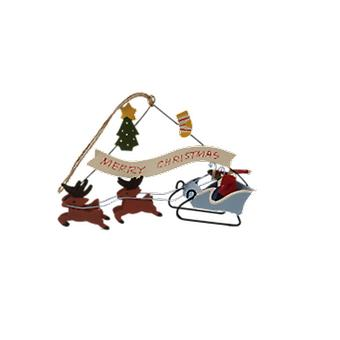 Shoeless Joe Santa on Blue Sleigh Decoration|Gifts From Handpicked
