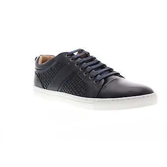 Zanzara Speed  Mens Blue Leather Lace Up Low Top Sneakers Shoes