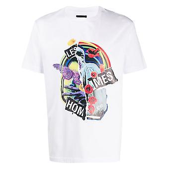 Les Hommes Lit212703p1000 Men's White Cotton T-shirt