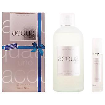 Women's Perfume Set Acqua Uno Luxana 600001 (2 pcs)