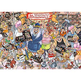 Wasgij Original 27 20th The Party Parade! Jigsaw Puzzle (1000 Pieces) with Free 1000 Puzzle