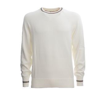 Brunello Cucinelli M28701600ch381 Men's White Cotton Sweater