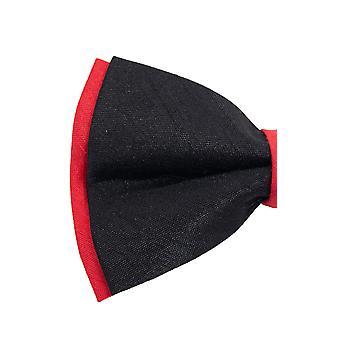 Dobell Mens Red & Black 2-Tone Bow Tie Pre-Tied