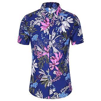 Allthemen Miesten's Hawaiian T-paidat Kukka Painettu Summer Beach Topit