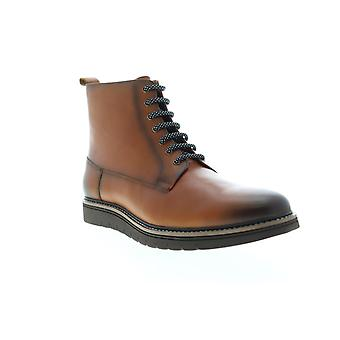 Zanzara Lairesse  Mens Brown Leather Lace Up Casual Dress Boots