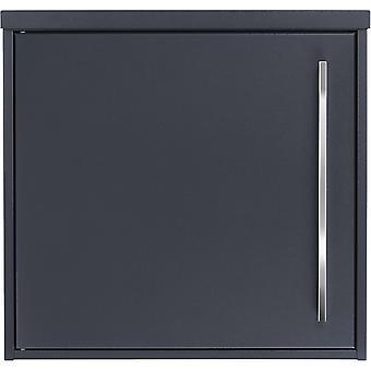 MOCAVI Box 104 Design brevlådeantracit (RAL 7016) med rostfritt stål handtag