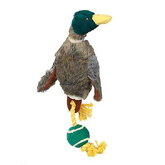 House Of Paws Duck With Tennis Ball Tail Dog Toy
