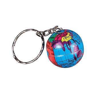 Nøkkelring/nøkkel kjede med Globus