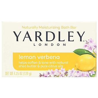 Yardley london bar soap, lemon verbena with shea butter, 4.25 oz