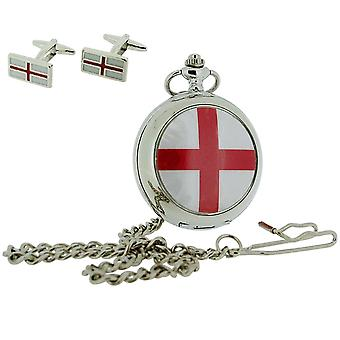Boxx St Georges Cross Pocket Watch With 12