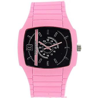 Pandemonium London 24 Hour Display Pink Strap Sports Watch PL121