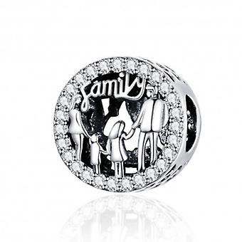 Sterling Silver Charm Family Of 4 - 6201