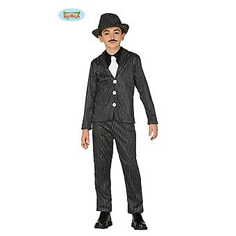 Guirca gangster mafieux costume pour jeune costume Carnaval Carnaval Pinstripe