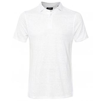 Camisa polo de linho listrado hackett slim fit