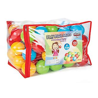Pilsan ball bath 06154, 100 colorful game balls 9 cm diameter in bag