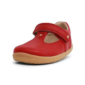 Bobux step up louise rio red t-bar shoes