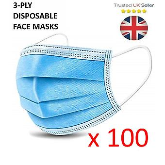 100X 3 Ply Face Mask
