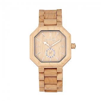 Reloj de pulsera de madera Acadia - caqui/Tan de la tierra