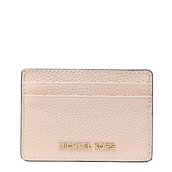 MICHAEL by Michael Kors Jet Set Soft Pink Pebbled Leather Card Holder