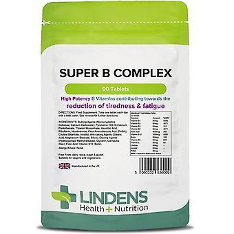 Lindens Super B -vitamiinikompleksi Tabs 90 (6009)