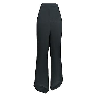 Masseys Women's Plus Pants High-Low Hem Pull-On Black