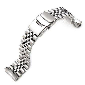 Strapcode watch bracelet 22mm super jubilee 316l stainless steel watch band for seiko diver 6309-7040
