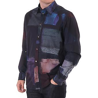 Paul Smith Jeans Tailored Oil Print Shirt