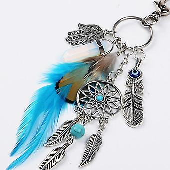 Bead Dream Catcher - Feathers Tassels Key Ring Buckle Dream Catcher