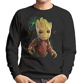 Marvel Guardians Of The Galaxy Baby Groot Eyes Logo Men's Sweatshirt