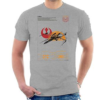 Star Wars X Wing Starfighter Orthographic Men's T-Shirt
