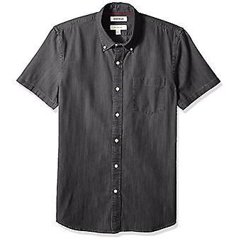 Goodthreads Hombres's Slim-Fit camisa de mezclilla de manga corta, lavado negro, XXX-grande
