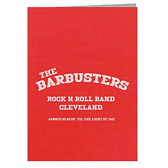 Light Of Day The Barbusters Rock N Roll Band Cleveland Greeting Card